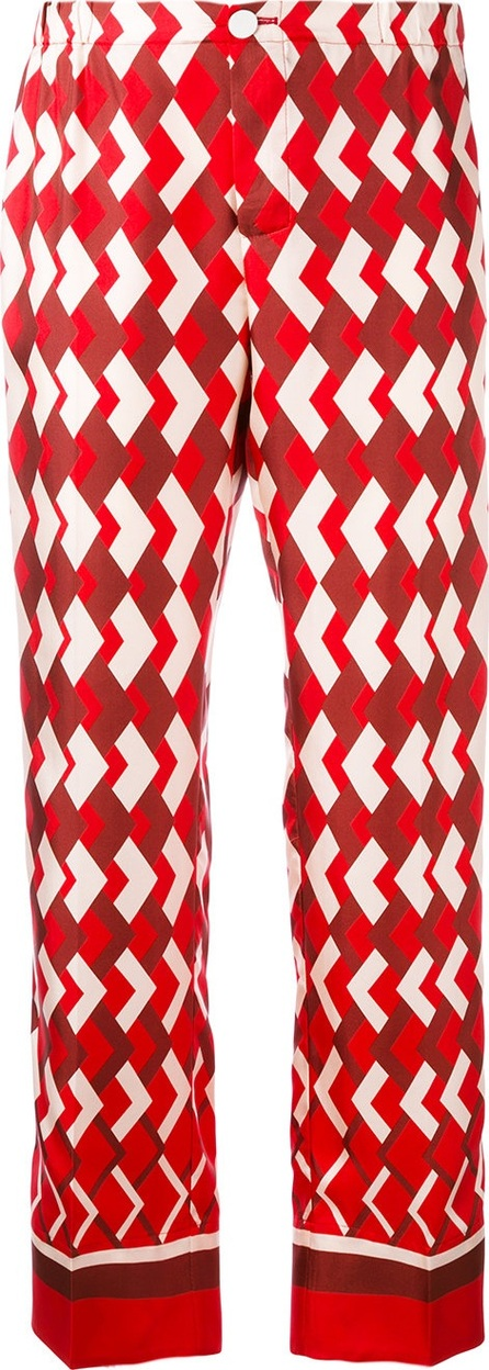 F.R.S For Restless Sleepers chevron print trousers