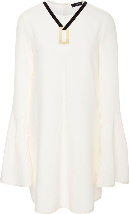 Ellery M'O Exclusive Preacher Bell Sleeve Satin Dress