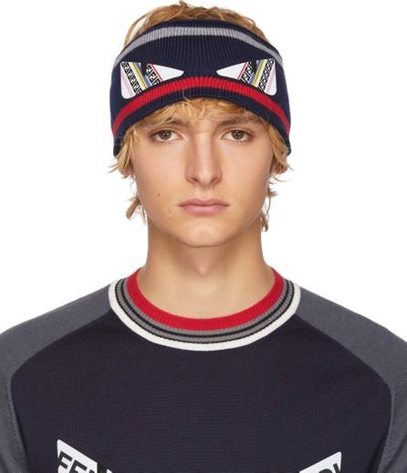 Fendi Blue Knit 'Bag Bugs' Headband