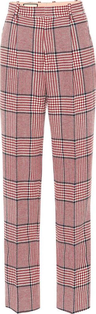 Gucci Plaid wool-blend pants