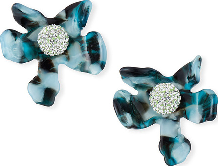 Lele Sadoughi Crystal Lily Button Earrings