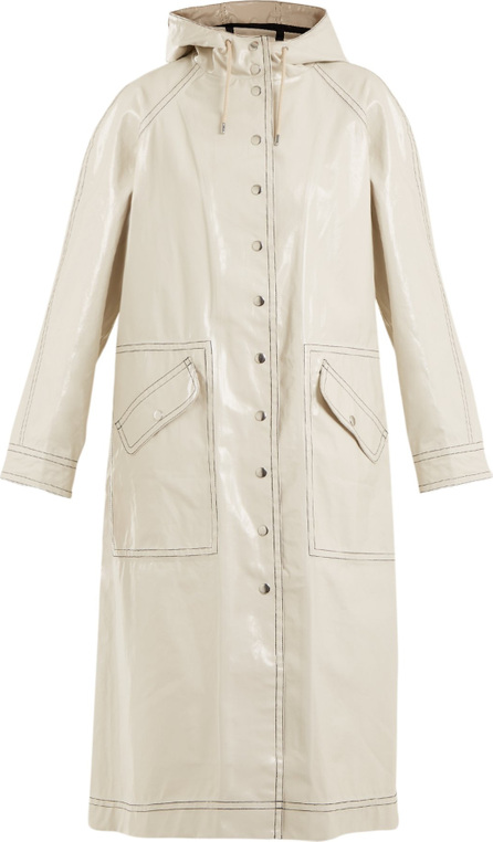 Alexachung Contrast-stitching hooded cotton-blend raincoat