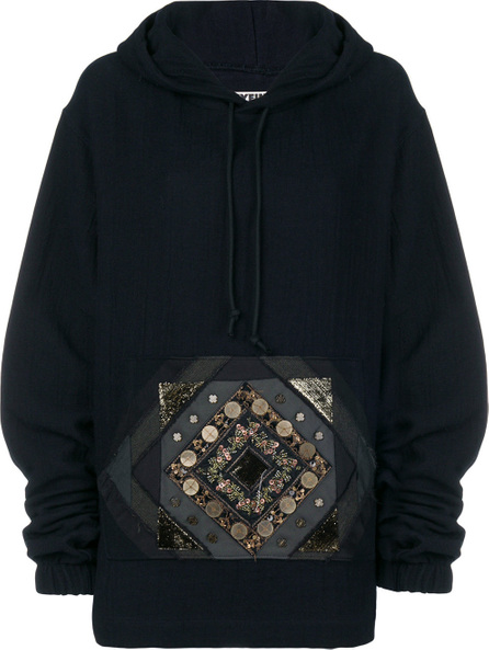 Hyein Seo Beaded patch pocket hoodie