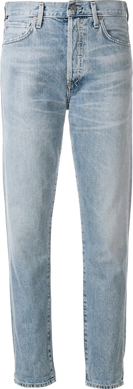 Straight leg mid rise jeans