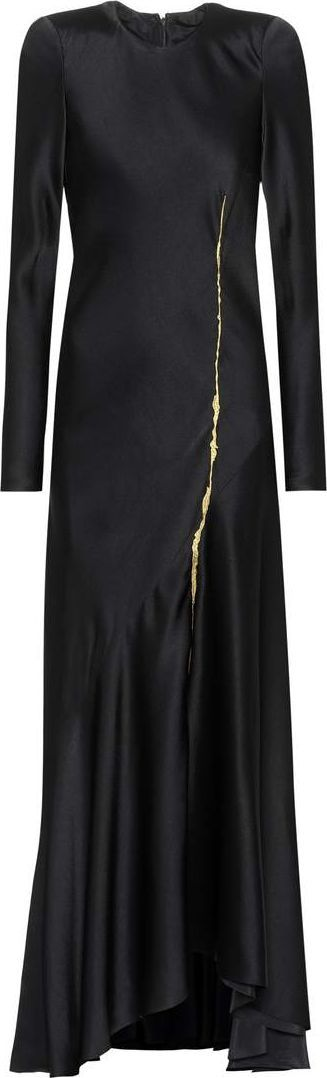 Haider Ackermann Embroidered satin dress