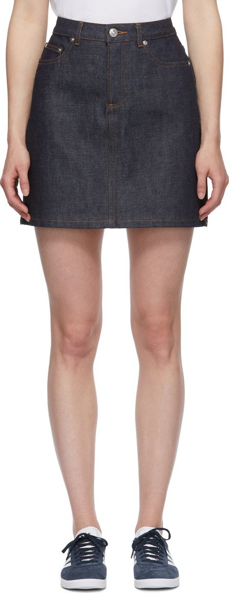 A.P.C. Indigo Standard Miniskirt