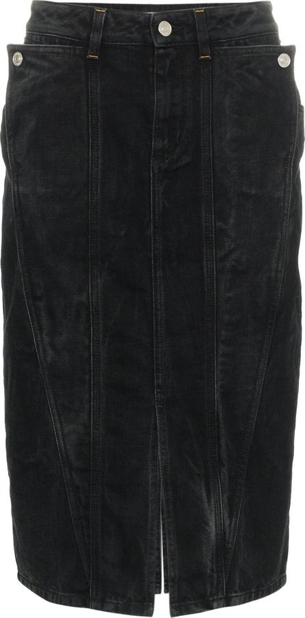 Givenchy High waist panelled knee length denim skirt