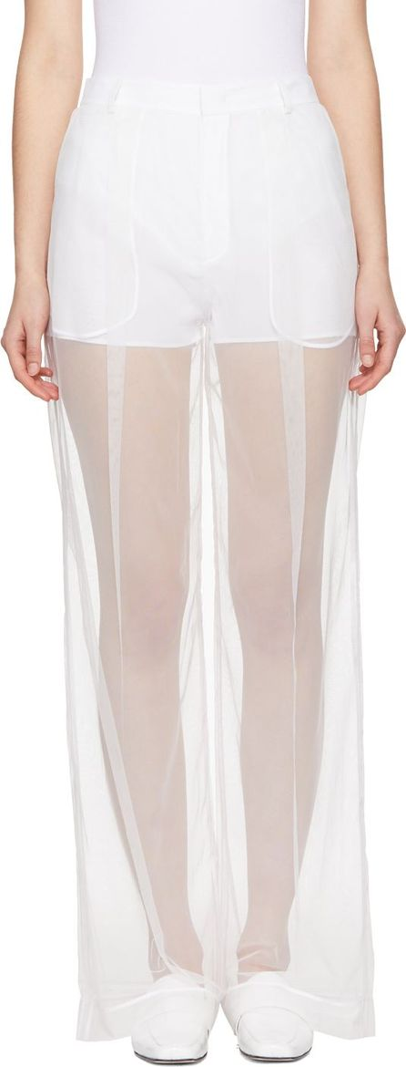 Givenchy White Tulle Trousers