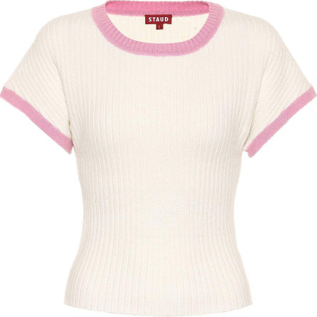 Staud Jarvis ribbed knit T-shirt