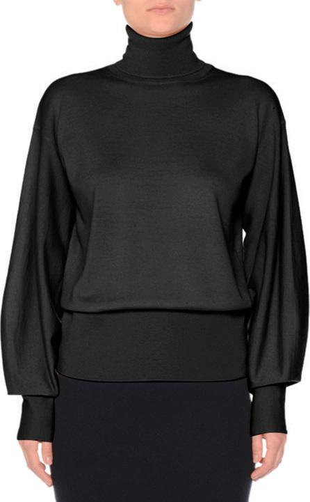 Agnona Bishop-Sleeve Wool Turtleneck Sweater
