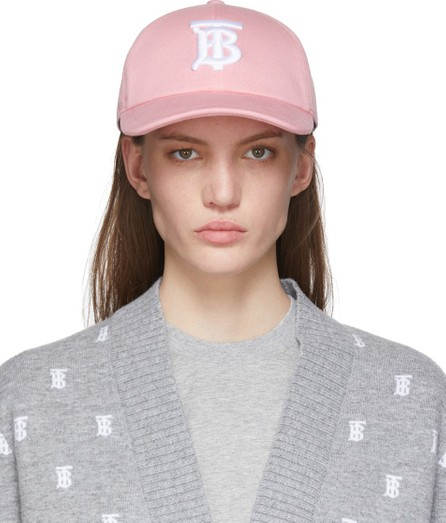 Burberry London England Pink Logo Baseball Cap