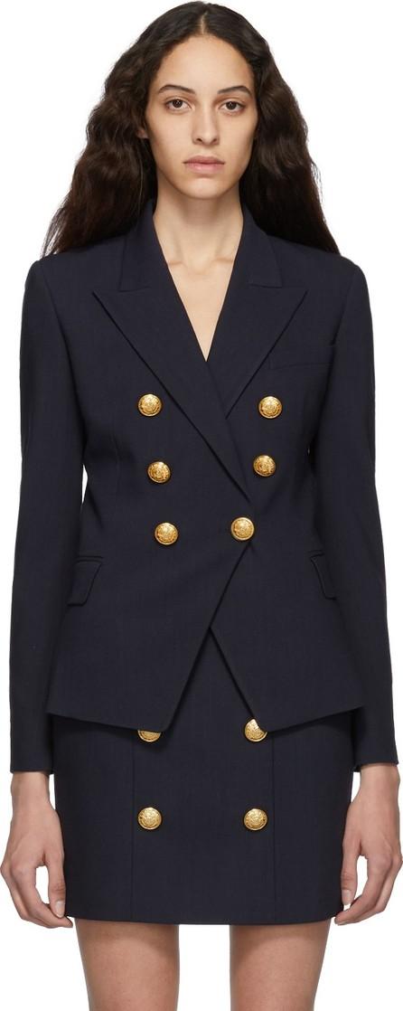 Balmain Blue Wool Double-Breasted Blazer