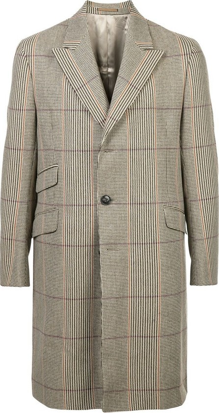 Holiday checked coat