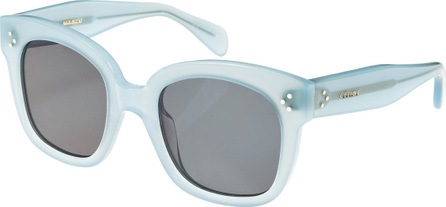 Celine Square Monochromatic Acetate Sunglasses, Blue Pattern