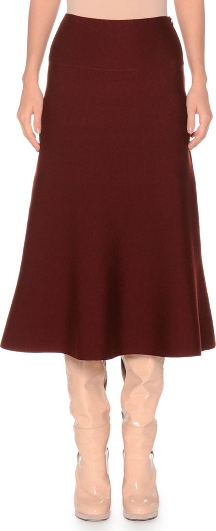 Agnona Merino Extra Fine Wool-Blend Skirt w/ Side Zip