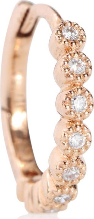 Stone Paris Tiny Hoop Madame Bovary 18kt rose gold and diamond earring