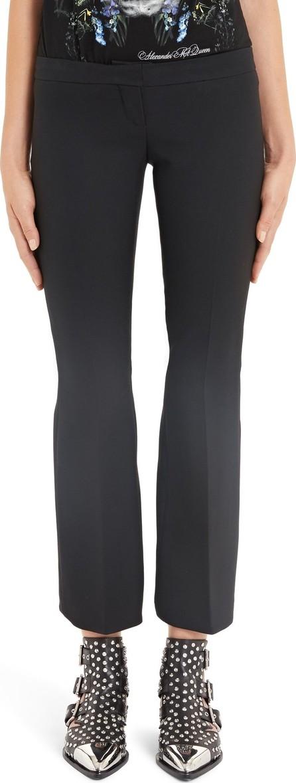 Alexander McQueen Pleated Crop Flare Pants
