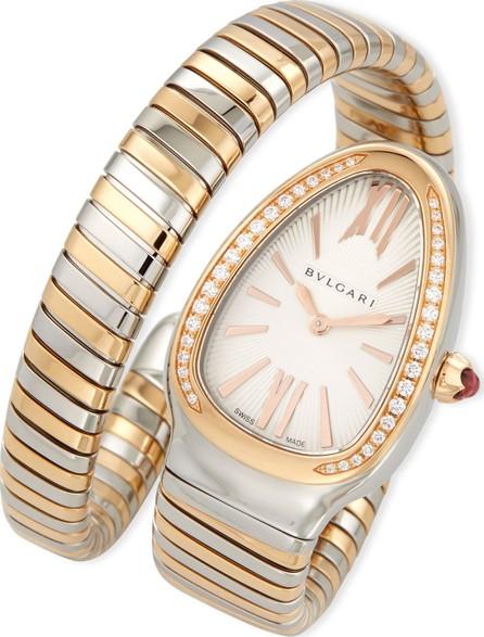 BVLGARI 35mm Serpenti Tubogas Diamond Watch, Two-Tone/Cream