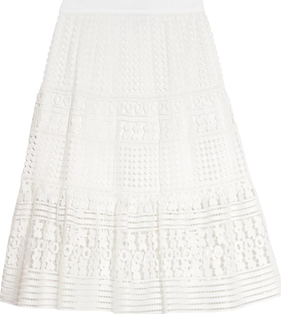 DIANE von FURSTENBERG - Tiana guipure lace skirt