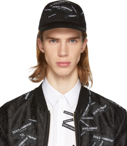 Dolce & Gabbana Black Patch Baseball Cap