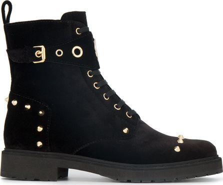 Fendi stud embellished logo biker boots