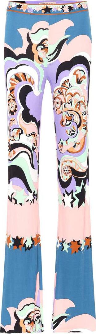 Emilio Pucci Paisley-printed jersey pants