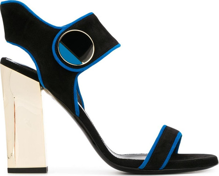 Lanvin Metallic button ankle strap sandals