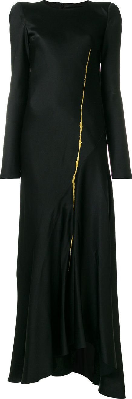 Haider Ackermann flared long length dress