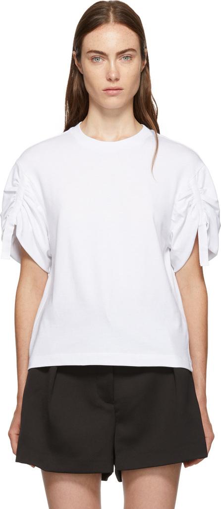3.1 Phillip Lim White Gathered Sleeves T-Shirt
