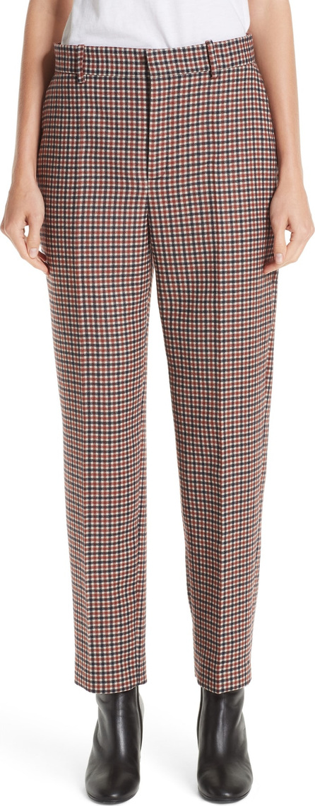 Balenciaga Stretch Wool Check Pants