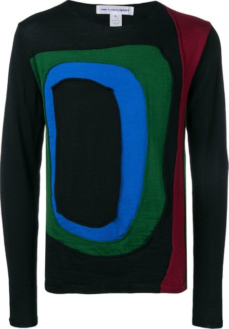 Comme Des Garcons Colour-block fitted sweater