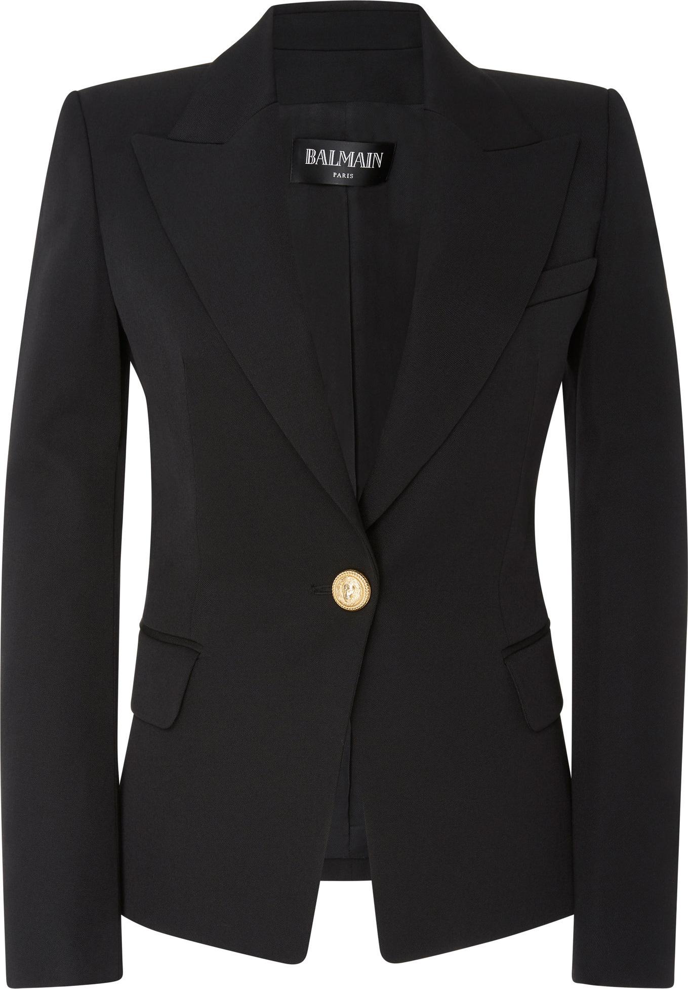 Balmain - Tailored One Button Wool Blazer