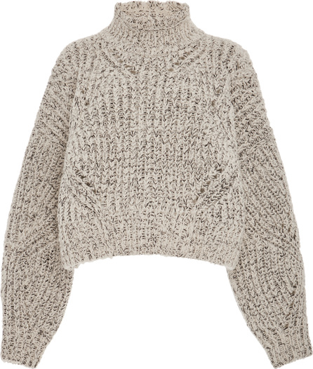 Isabel Marant Farren Open Mock Neck Wool-Blend Sweater