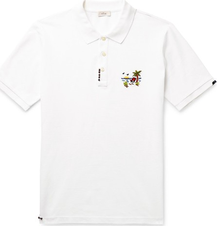 Altea Embellished Embroidered Cotton-Piqué Polo Shirt