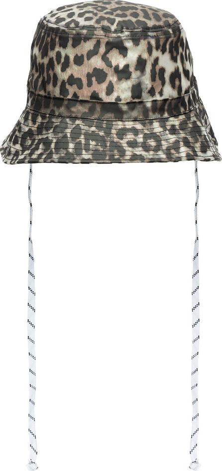 Ganni Leopard print bucket hat