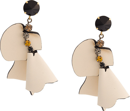 Marni Embellished flower earrings
