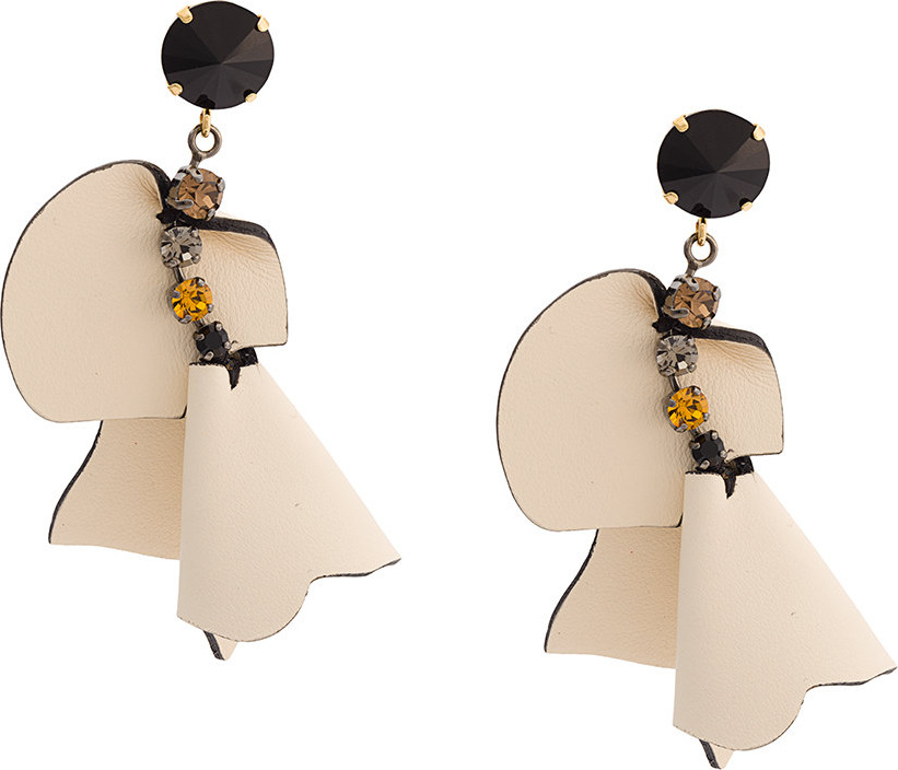 Marni - Embellished flower earrings