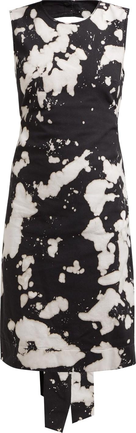 Nº21 Tie-dye open-back cotton-blend dress