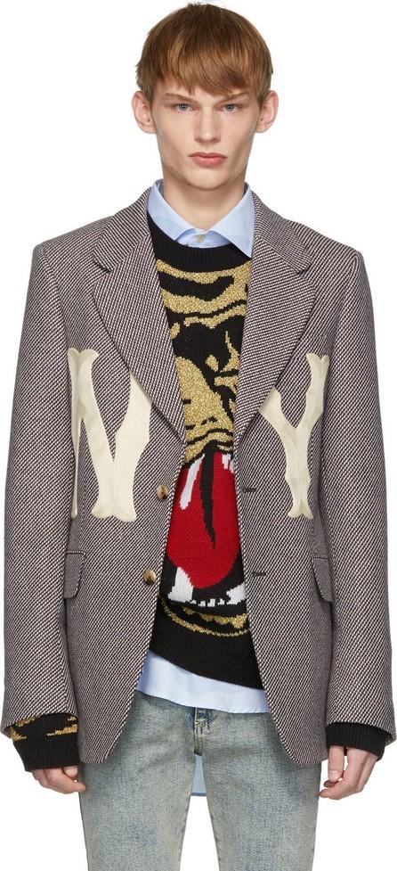 Gucci Black & White NY Yankees Edition Patch Blazer