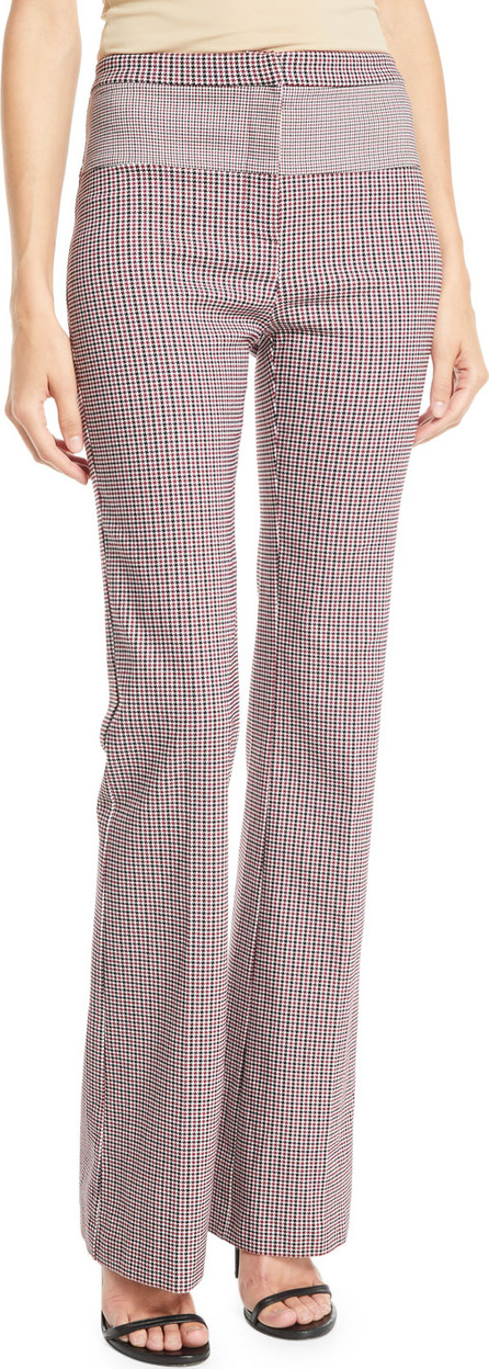 Pinko Straight-Leg Plaid Pants