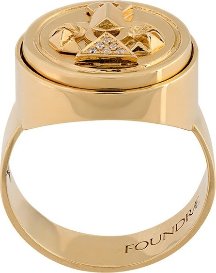 Foundrae diamond protection signet ring