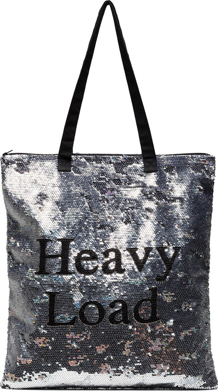 ASHISH Silver Heavy Load Sequin tote bag