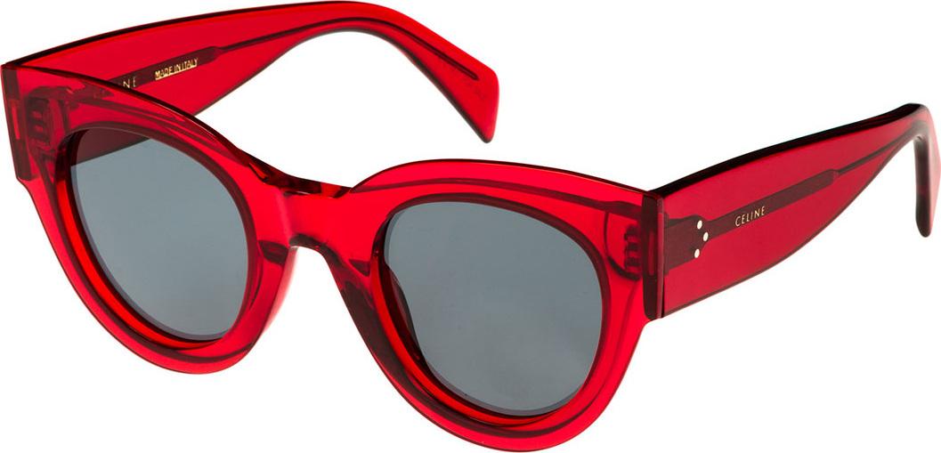 9509ca0827 Celine Studded Cat-Eye Acetate International-Fit Sunglasses