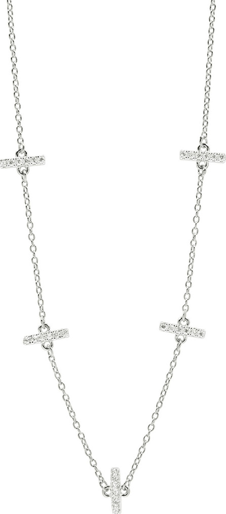 Freida Rothman Radiance Pave Station Necklace, Rhodium