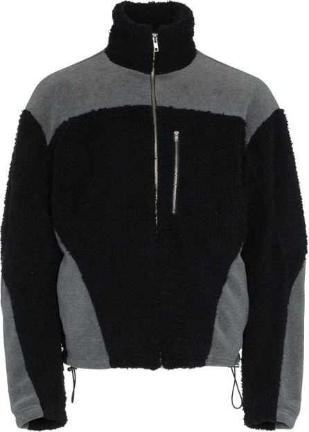 GmbH Black and grey zipped fleece jacket