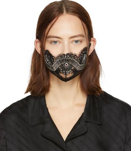 Alexander Wang Black Lace Safety Pin Mask