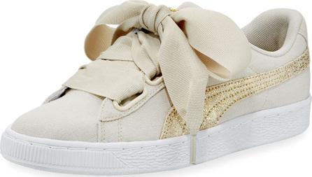 PUMA Basket Heart Canvas Sneakers, Beige