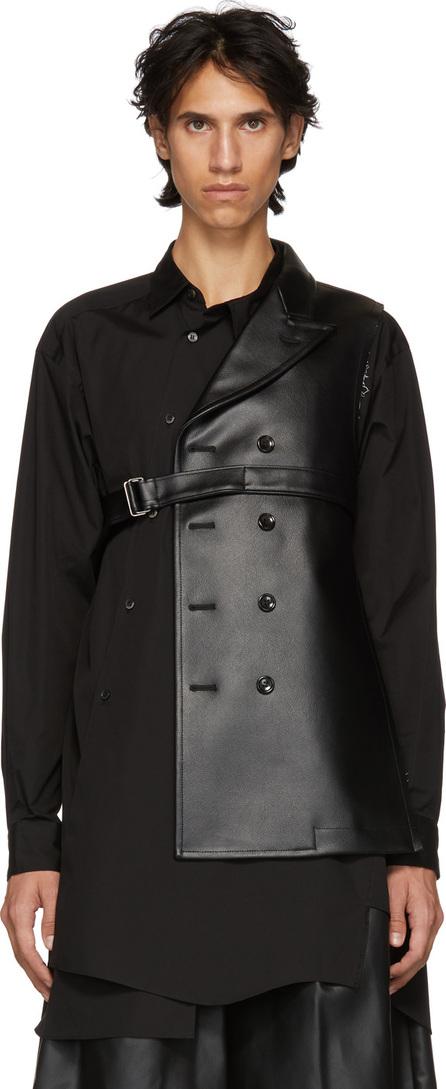 Comme Des Garçons Homme Plus Black Asymmetric Blazer Vest