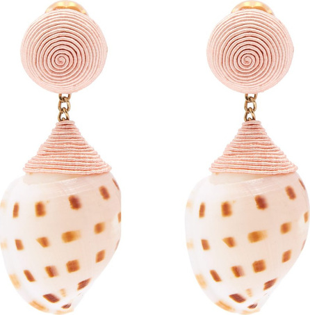 Rebecca de Ravenel Ophelia shell clip-on earrings