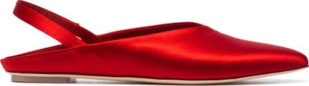 Simone Rocha Satin 5 pointed toe flats